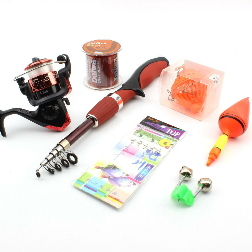 Baitcasting Ice Fishing Rod Set with Fishing Bell