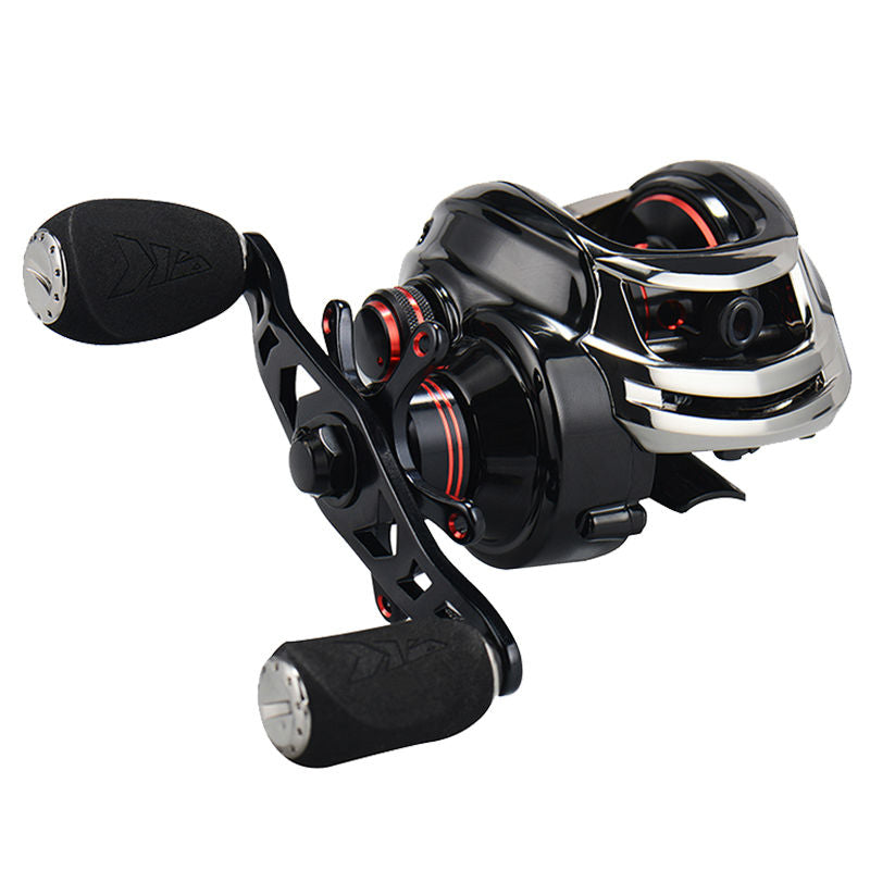 7.0:1 Gear Ratio Dual Brake 12 Ball Bearings Baitcast Reel