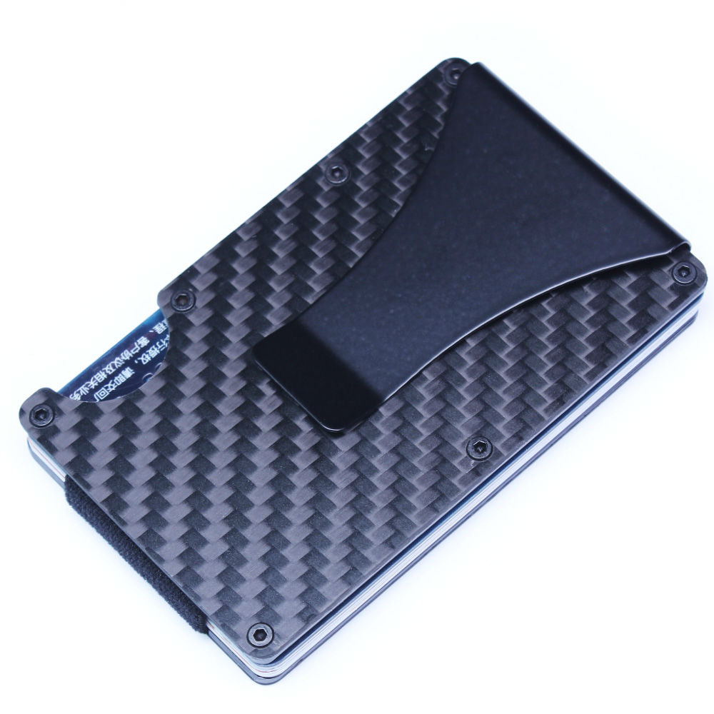 Carbon fiber aluminum alloy money clip business card holder shopinux carbon fiber aluminum alloy money clip business card holder colourmoves