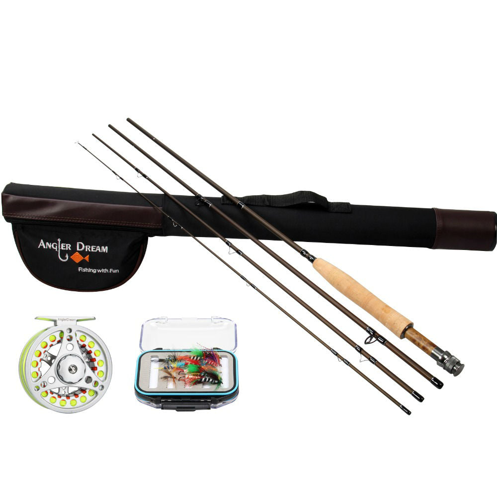 Fly Fishing Rod & Reel with Fly Line Combo
