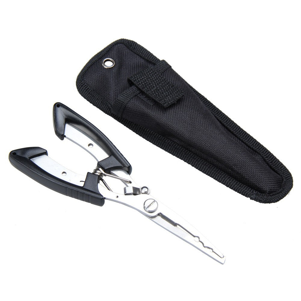 Black Stainless Steel Fishing Pliers & Line Cutter