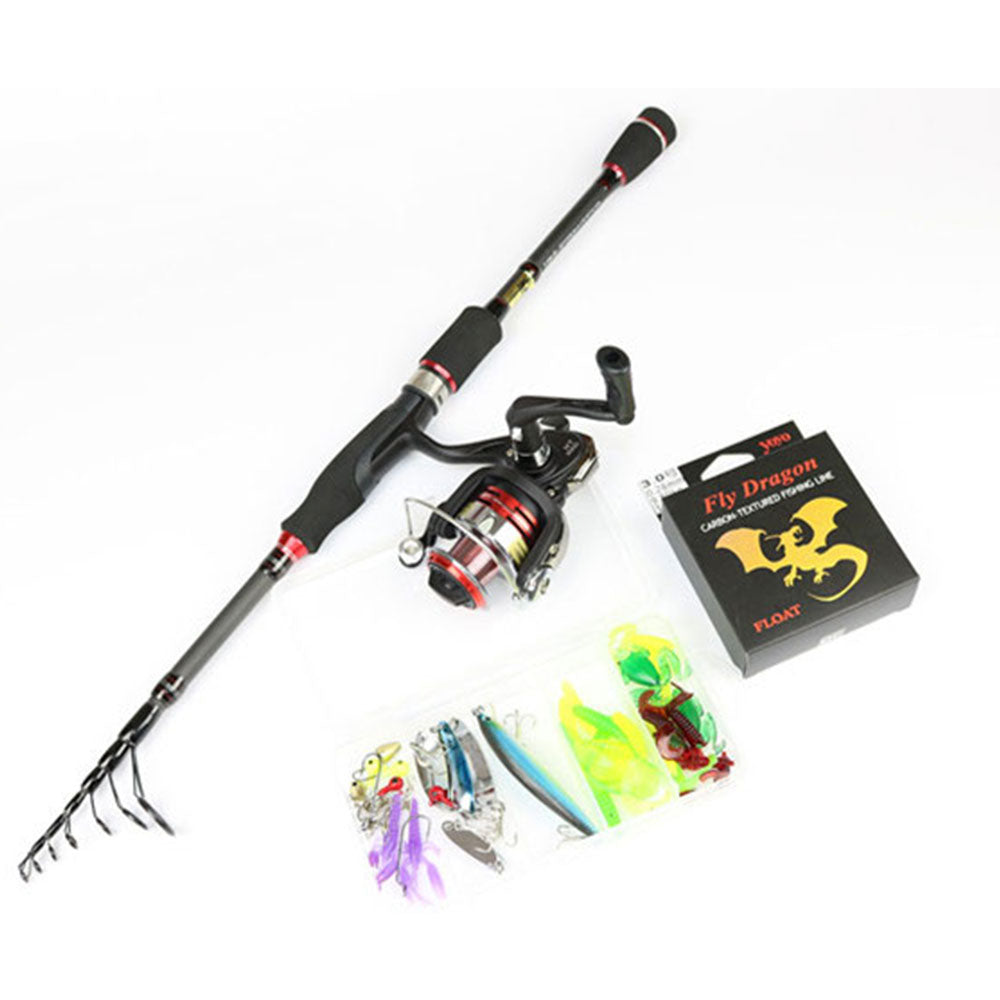 Carbon Telescopic Rod With Spinning Reel