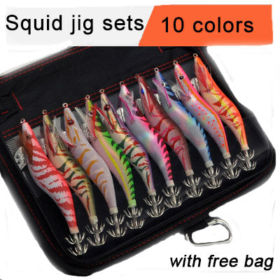 Glowing Multi Color Artificial Squid Jigs Lure