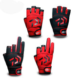 Three Half-Finger Durable Anti-Slip Gloves