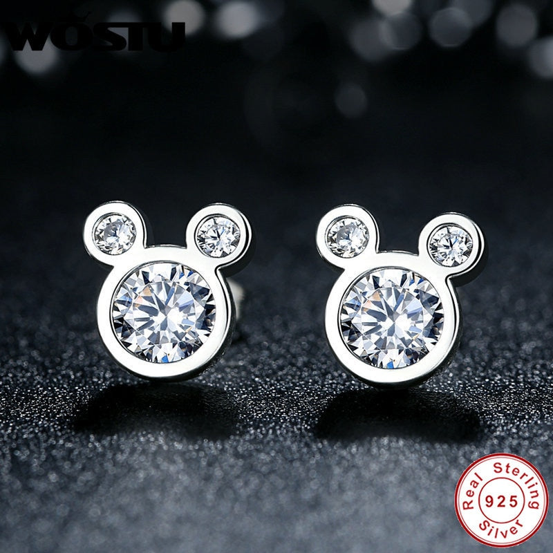 Cubic Zirconia 925 Sterling Silver Exclusive Stud Earrings