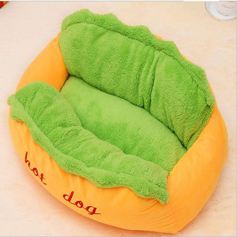 Hotdog Design Dog Bed