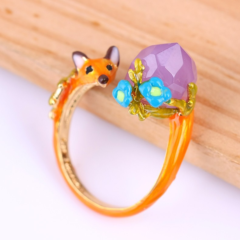 Cute Fox Party Ring