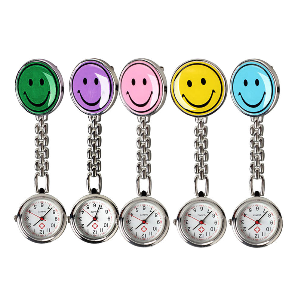 Charming Smile Face Quartz Pocket Watch