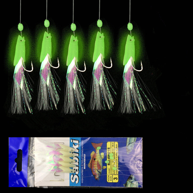 Glowing Night Fishing String Hook