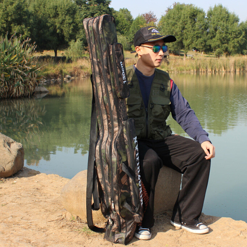 Double Layer Waterproof Fishing Rod & Tackle Bag