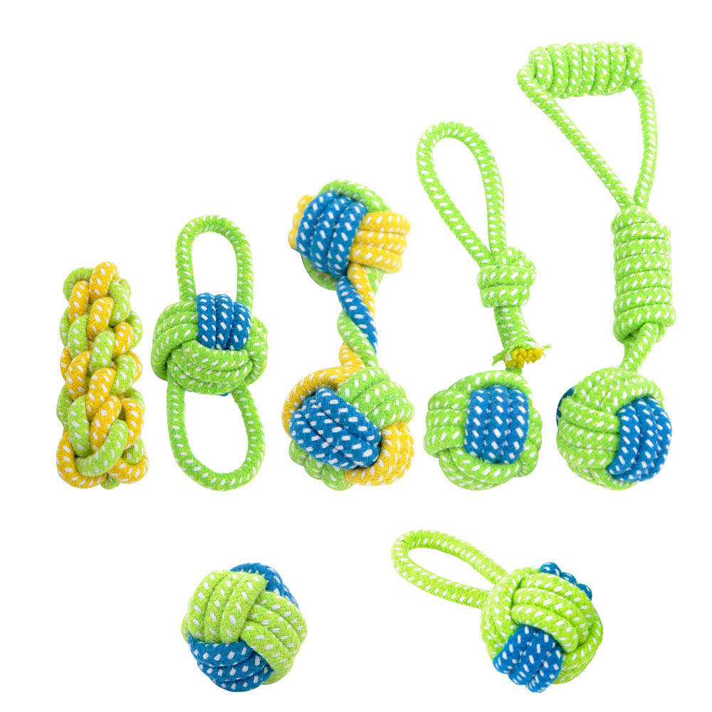 Cotton Rope Knot Ball Dog Toys