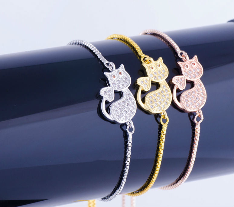 Fashionable Kitten Cat  Bracelet