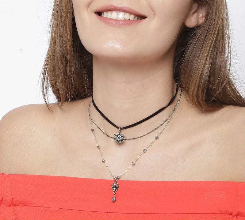 Crystal Stars Choker Necklace