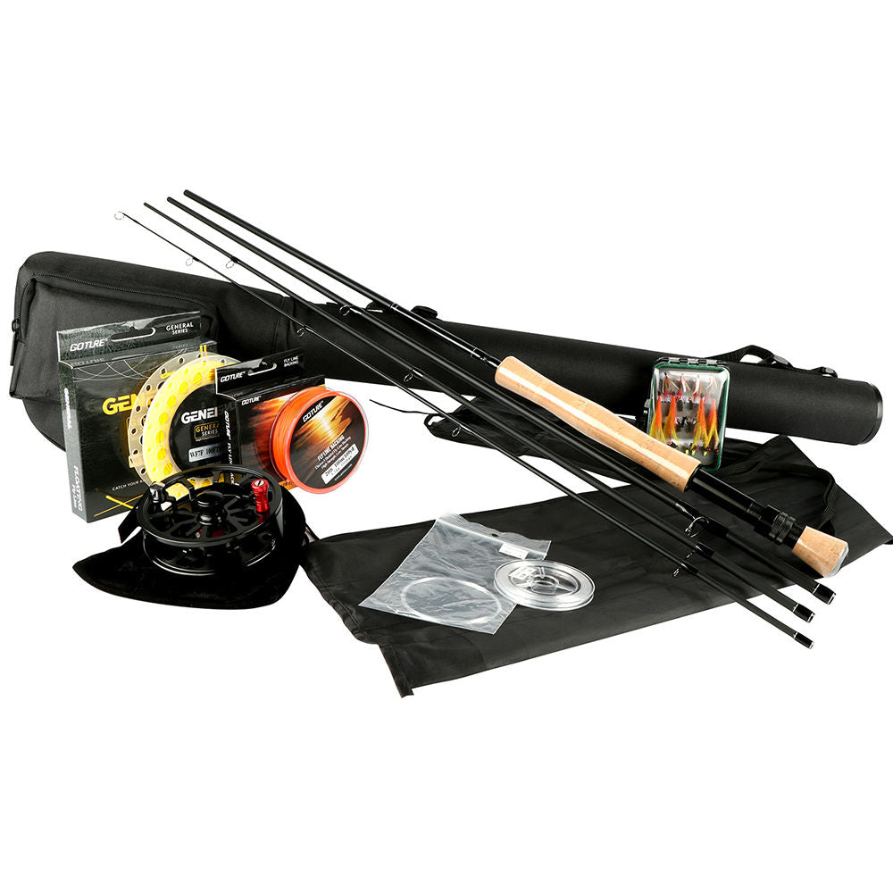 Aluminum Fly Reel with Line Rod Combo