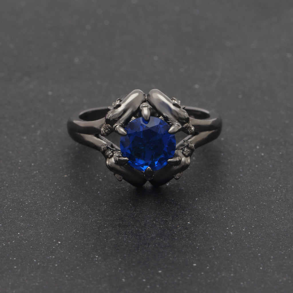 Fashionable Crystal Dragon Ring For Men