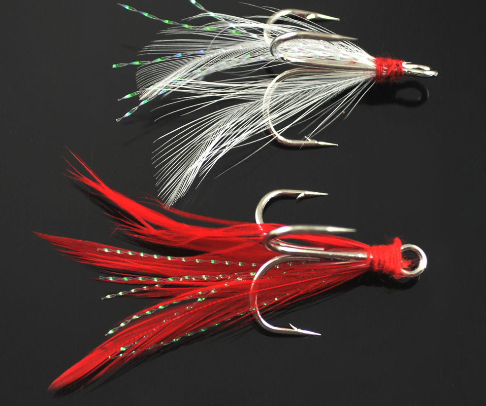 10pcs Bulk Feather Fly Lures