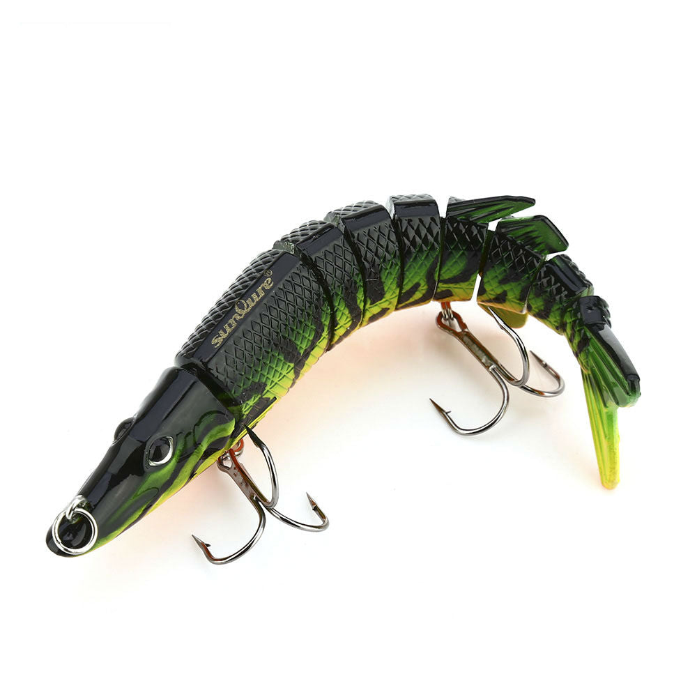 Artificial 9 Sections Pike Fishing Lure