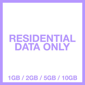 Residential Proxy Plan (GB Data Only)