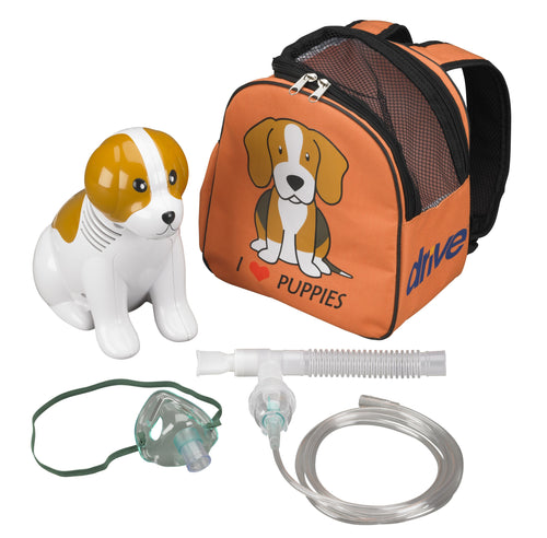 Drive Medical Pediatric Beagle Compressor Nebulizer with Carry Bag and Disposable and Reusable Neb Kits Item # 18091 - The Breathing Shop