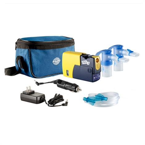 Pari Trek S Portable Compressor Nebulizer Aerosol System  With A Rechargeable Battery And 2 Nebulizers
