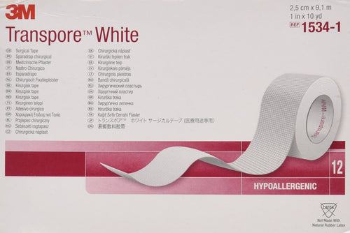 3M™ Transpore™ White Surgical Tape