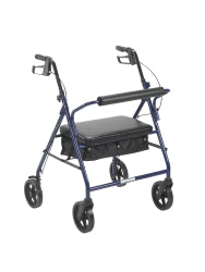 """drive™ Bariatric 4 Wheel Rollator Blue Steel 34 to 39"""""""