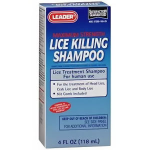 Leader Lice Killing Shampoo, 4 oz.