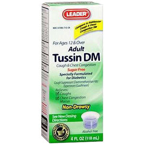 Leader Tussin DM Liquid Formula, 4 oz.