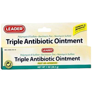 Leader Triple Antibiotic Ointment, 1 oz.