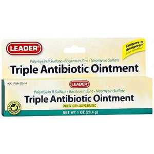 Leader Triple Antibiotic Ointment Plus, 1 oz.