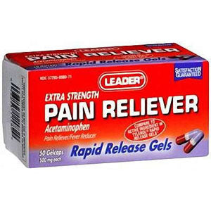 Leader Pain Relief Gelcaps 500 mg (50 Count)