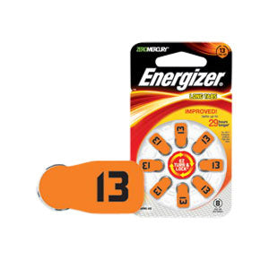 Energizer EZ Turn & Lock Hearing Aid Battery Size 13, 1.4V Capacity