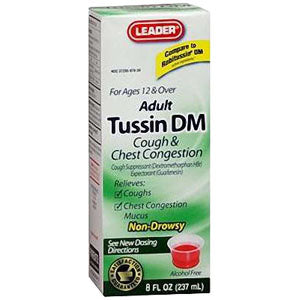 Leader Tussin DM Liquid Formula, 8 oz.
