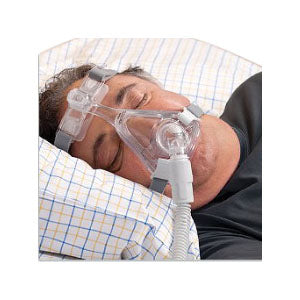 Amara Full Face CPAP Mask with Reduce Size Headgear and Frame, Large