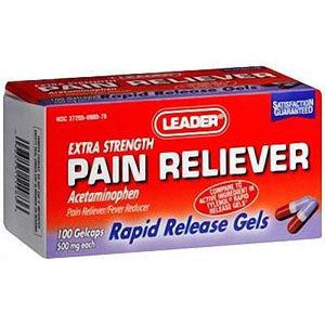 Leader Pain Relief Gelcaps 500 mg ( 100 Count)