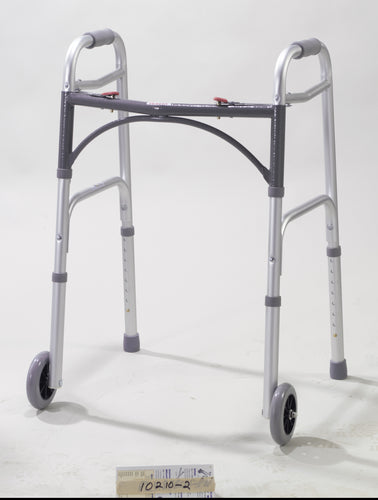 Drive Medical Deluxe Folding Walker with 5 Inch Wheels