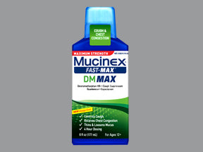 Mucinex® Fast-Max DM Max Cold Relief 400 mg / 20 mg Strength Liquid 6 oz.