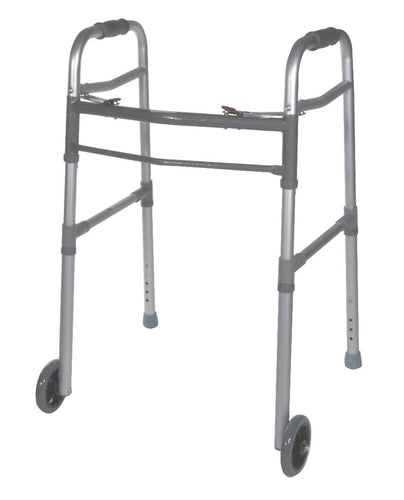 Drive Medical Universal Folding Walker with Wheels