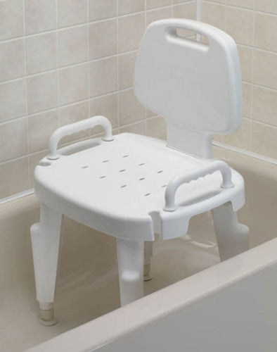 Maddak Adjustable Shower Seat with Arms and Back