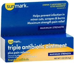 sunmark® Triple Antibotic Ointment Plus Pain Relief