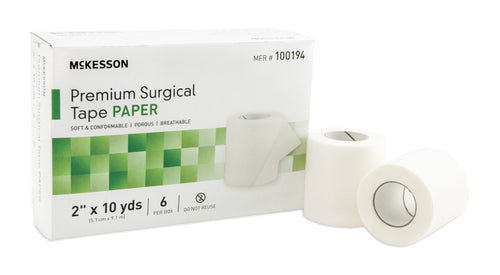 """McKesson Skin Friendly Paper Non-Sterile Medical Tape, 2"""" X 10 yd."""