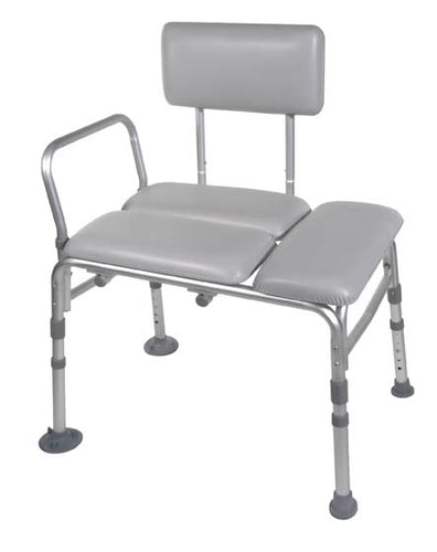 Drive Medical Padded Transfer Bench with Back, Legs and Arms