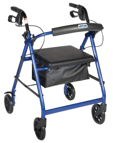 """Drive Medical Aluminum Rollator, 6"""" Casters"""