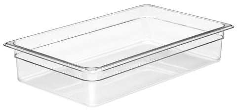 "Cambro Gastronorm Food Pans GN1/1 4""Clear Polycarbonate Pan- 6 pack 14CW135"