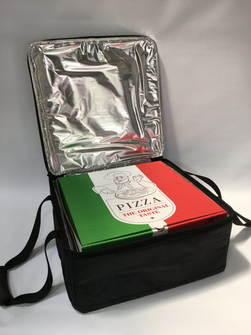 "*T62 Pizza Delivery Bag - 16"" Pizzas Box Zip Bags for Take Away Restuarant Food Deliveries"