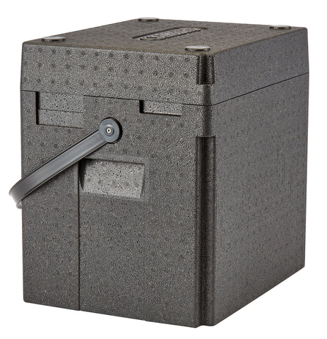 Cambro GoBox 35 litre Thermal Insulated Delivery Box with Handle & Carrier for Hot/Cold Food/Drinks EPPBEVBKST