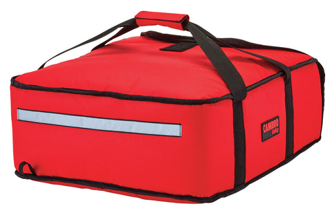"Cambro Pizza Delivery Bag 16"" Insulated 1 hour Thermal GoBag Pizzas Bags GBP216 Red"