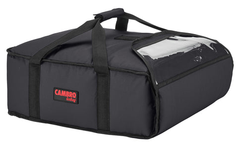 "Cambro Pizza Delivery Bag 16"" Insulated 1 hour Thermal GoBag Pizzas Bags GBP216 Black"