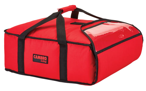 "Cambro Pizza Delivery Bag 20"" Insulated 1 hour Thermal GoBag Pizzas Bags GBP220 Red"