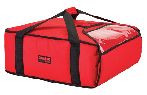 "Cambro Pizza Delivery Bag 18"" Insulated 1 hour Thermal GoBag Pizzas Bags GBP318 Red"